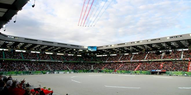 Le Stade d'Ornano, théâtre des exploits de centaines d'athlètes durant les JEM Normandie 2014 (© Gilles Alleaume)