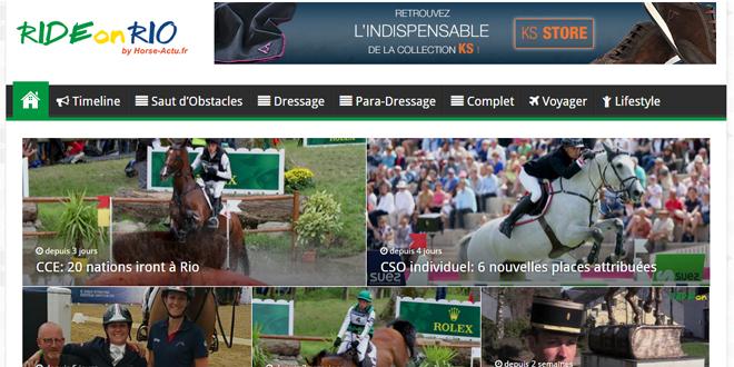Rideonrio.com, l'actualité des Jeux Olympiques et Paralympiques de Rio 2016 par l'équipe de Horse-Actu.fr !