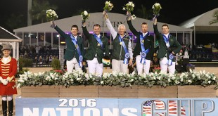 L'Irlande remporte la Coupe des Nations du CSIO4* de Wellington édition 2016 (© Sportfot)