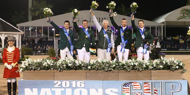 L'Irlande remporte la Coupe des Nations du CSIO4* de Wellington édition 2016 (© Sportfot)