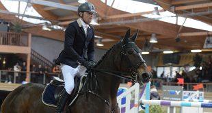 """Tony Hanquinquant, ici sur Tourterelle d'Elle, reprend les rênes des chevaux """"Clarbec"""" (© Xavier Boudon)"""