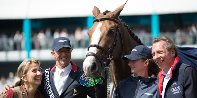 Aquila blessé lors du Jumping International de Dinard.